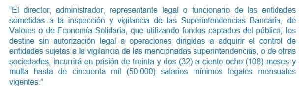 Articulo 314 - Ley 599 de 2000